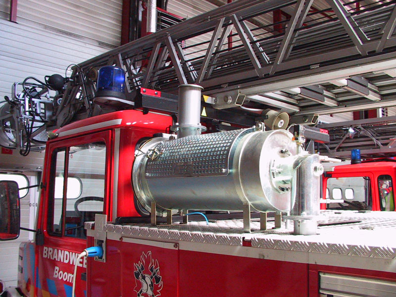 HT35 EHC Particle filter on a fire truck image